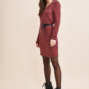 Dynamite Magenta sweater dress